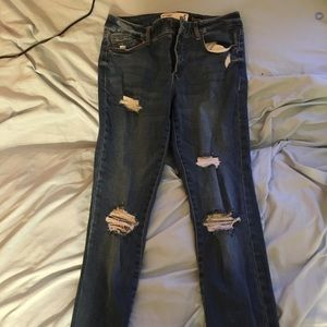garage ripped jeans